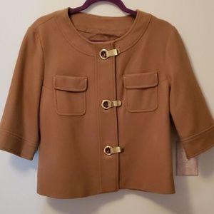 Michael Kors Brown 3/4 Blazer size L